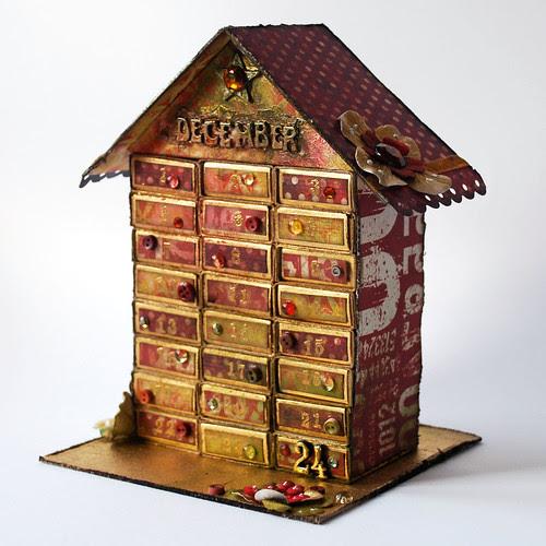 Zapałczany kalendarz adwentowy - Matchbox advent calendar