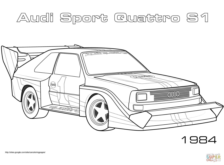 Ausmalbild: 1984 Audi Sport Quattro S1 | Ausmalbilder ...