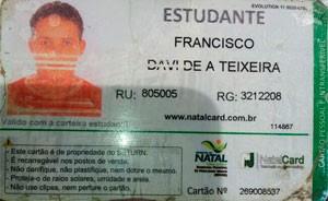 Francisco Davi Teixeira, de 16 anos, morreu no acidente (Foto: Reprodução/Inter TV Cabugi)