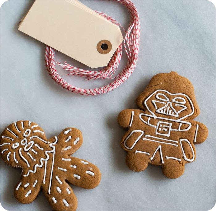 star wars gingerbread cookies