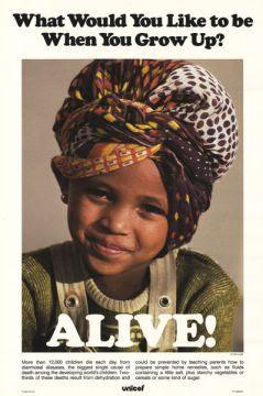 UNICEF poster circa 1985