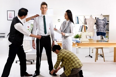 Image result for tailor taking measurements