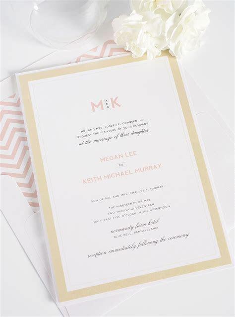 Modern Wedding Invitations in Blush and Gold ? Wedding