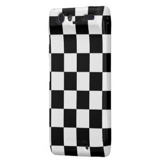 Checkered Black and White Motorola Droid RAZR Cases