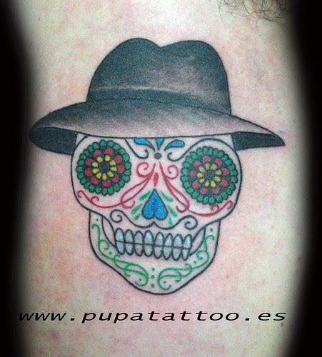 Tatuaje Calavera Mexicana Pupa Tattoo Granada by Marzia PUPA Tattoo