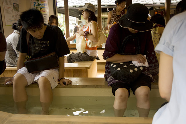 Yufuin Foot Cleaning