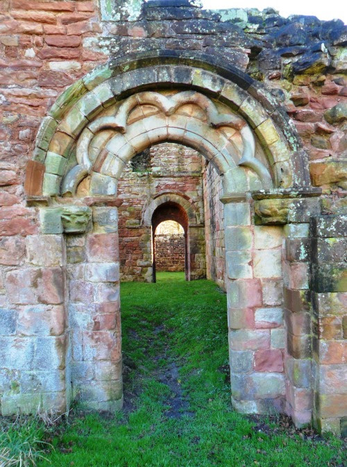 vwcampervan-aldridge:  Ornate Archways in the Ruins of the 12th century White Ladies Priory, Shropshire, England All Original Photography by http://vwcampervan-aldridge.tumblr.com