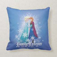 Elsa and Anna - Family Forever Throw Pillows