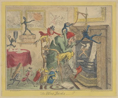blue devils satire by George Cruickshank