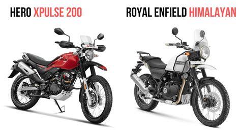 hero xpulse   royal enfield himalayan specs comparison