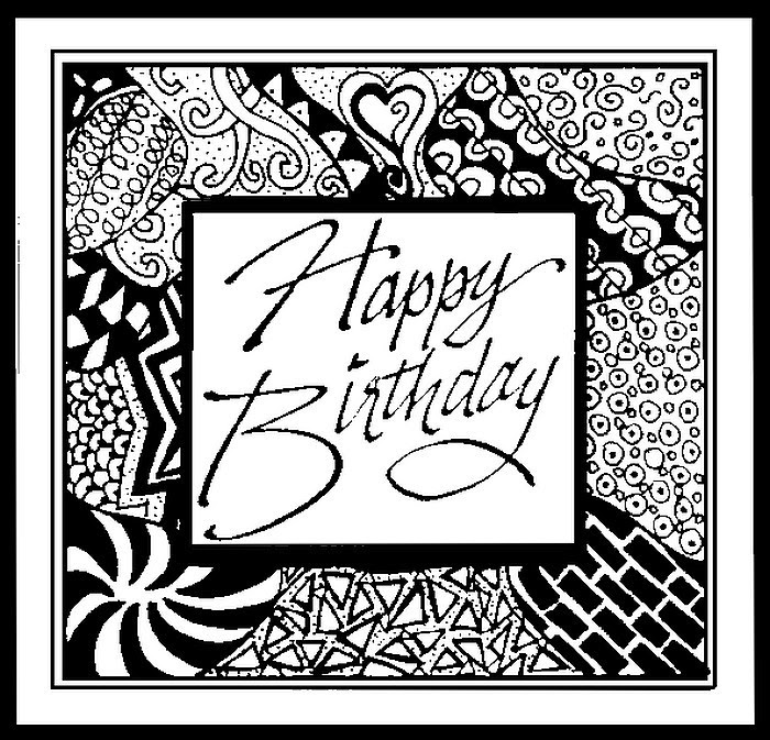 Art Therapy coloring page Happy Birthday : Happy Birthday! 1
