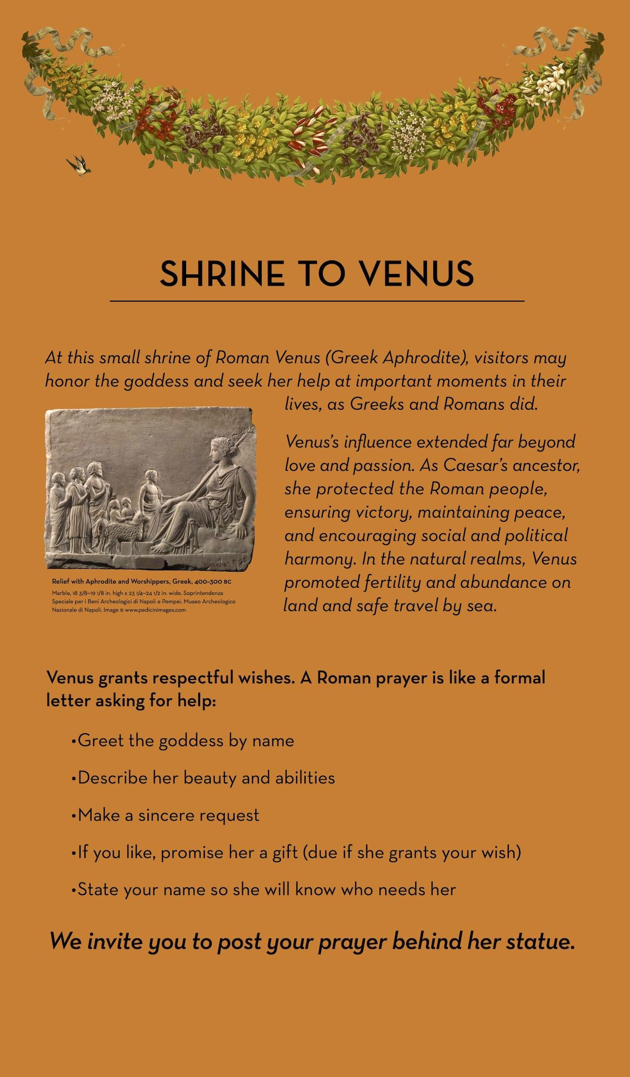 Dear Venus Praying To An Ancient Goddess At The Getty Villa The