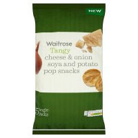 Waitrose Cheese & Onion Potato Pop Snacks