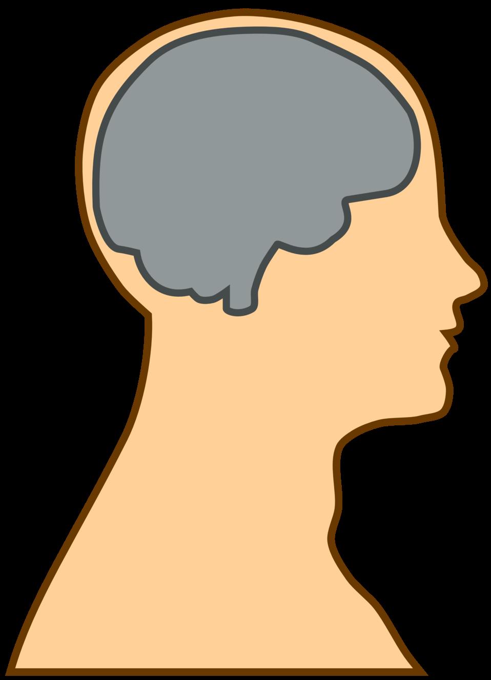 Public Domain Clip Art Image | Silhouette of a brain | ID ...