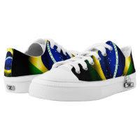 Brazilian Flag  Low Top Zipz Custom Shoe Printed Shoes