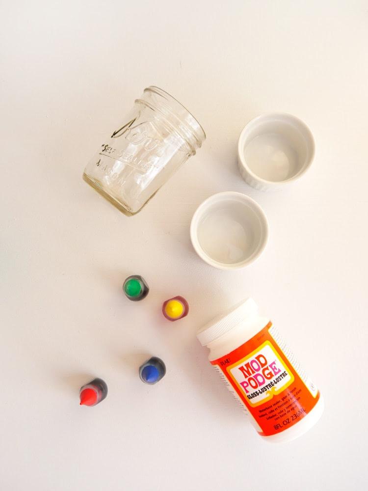 DIY Colored Glass Mason Jar Supplies Freutcake DIY Colored Glass Mason Jars