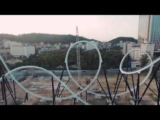 Quảng Ninh flycam - Quay phim flycam tại Quảng Ninh - Tàu lượn siêu tốc