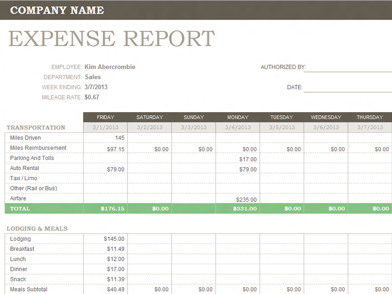 weekly expense report_03458073