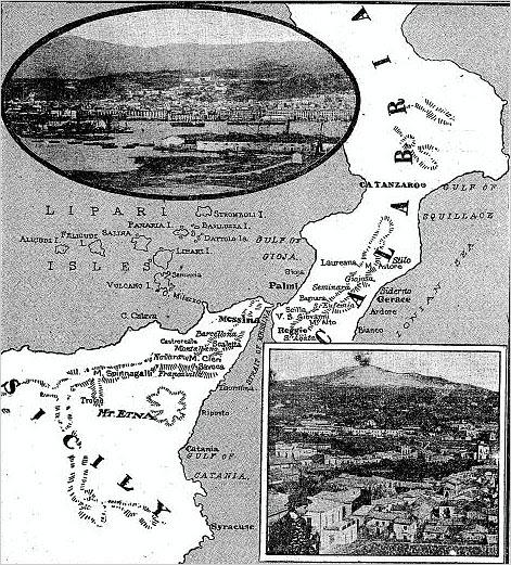 area of 12-28-1908 quake in Italy