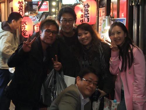 與日本路人合照