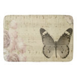 Musical Butterfly And Roses Bath Mats