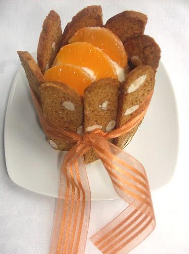 Mini-charlotte di piparelli alle clementine