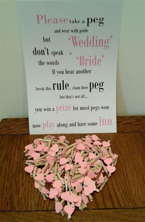 wedding peg table game fun game  wedding bridal