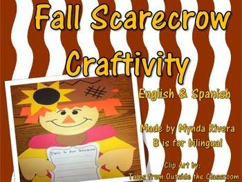 Fall Scarecrow Writing Craftivity (English & Spanish)