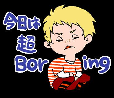 英語と日本語のmix感が楽しいキュートな外国人風イラストの英語