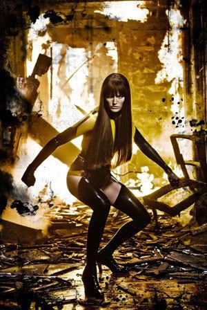 Malin Akerman as Silk Spectre II in WATCHMEN.
