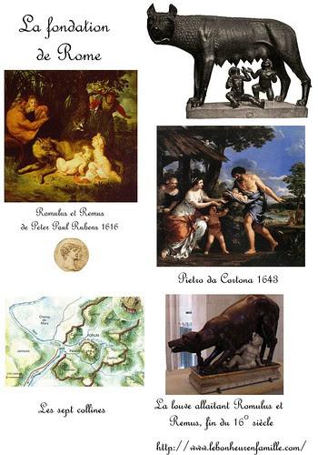 le bonheur en famille Romulus et remus fiche 1