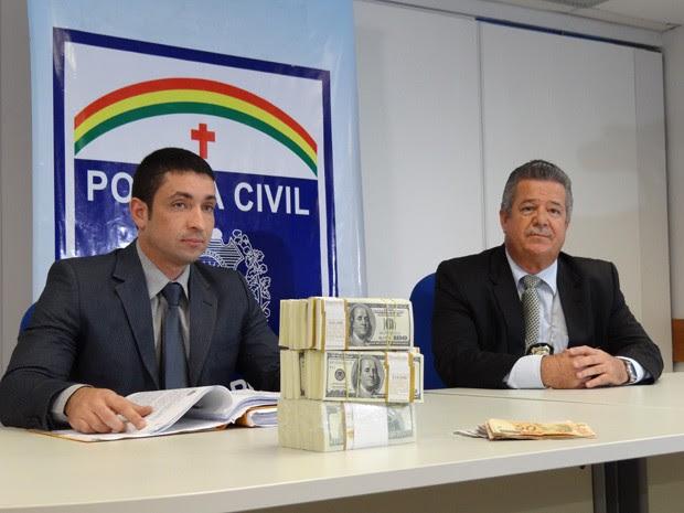 Delegados Carlos Couto e Guilherme Mesquita (Foto: Lorena Aquino/G1)