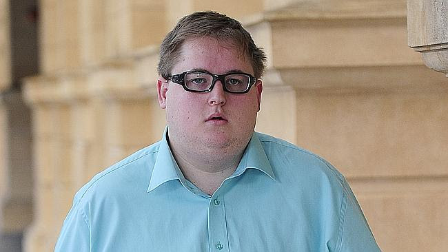 Daniel Paul Gillard leaves the District Court today after receiving a suspended sentence