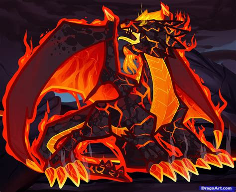 draw  fire dragon fire dragon red dragon step
