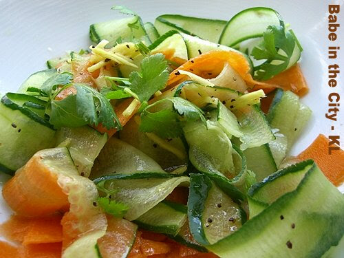 Cucumber and Carrot Ribbons Salad