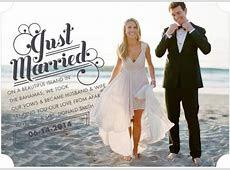 Just married elope elopement  announcement   Wedding Invitations   Pinterest   Receptions, Nice