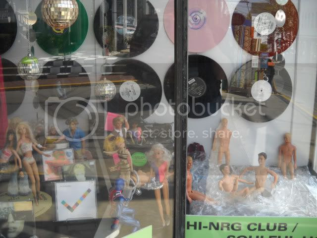 P-town record store window