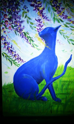 Blue Cat - Lilyfield street art