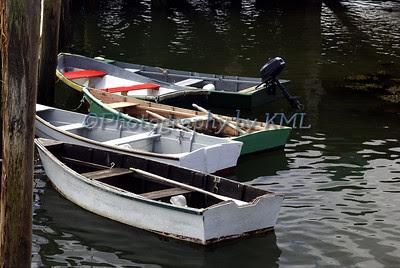 rowboats moored along the dock