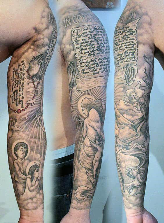 60 Scroll Tattoos For Men Manly Paper Design Ideas