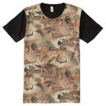 Autumn Leaves Camouflage Nature Photography All-Over Print T-shirt