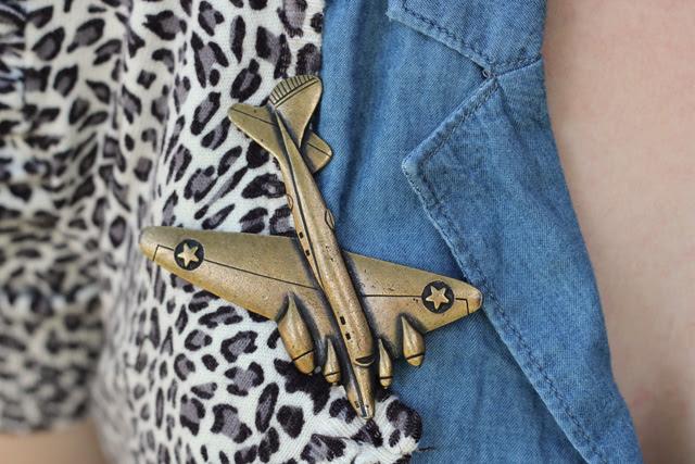 Vintage Airplane Pin