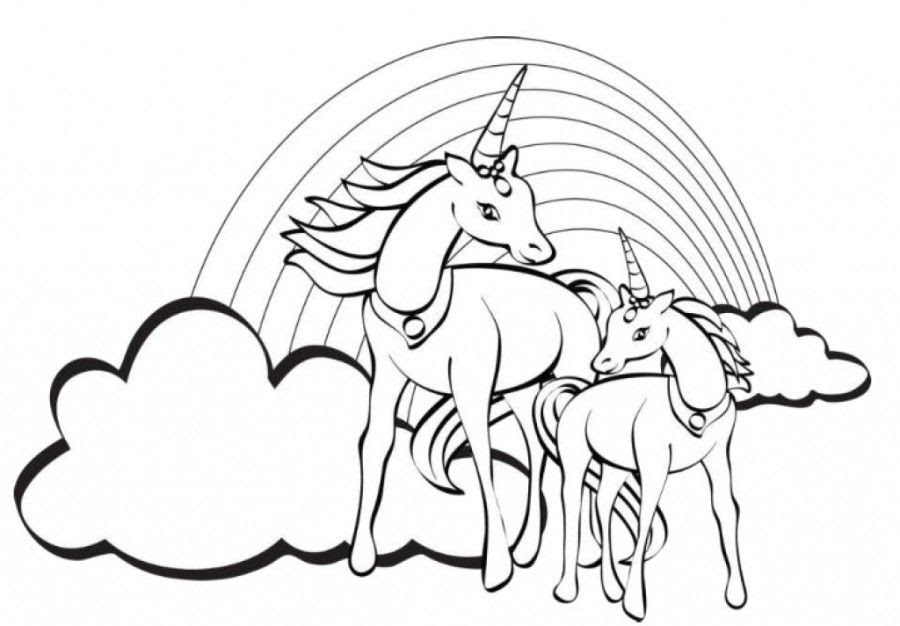 Printable Coloring Pages Unicorn Rainbow Coloring And Drawing