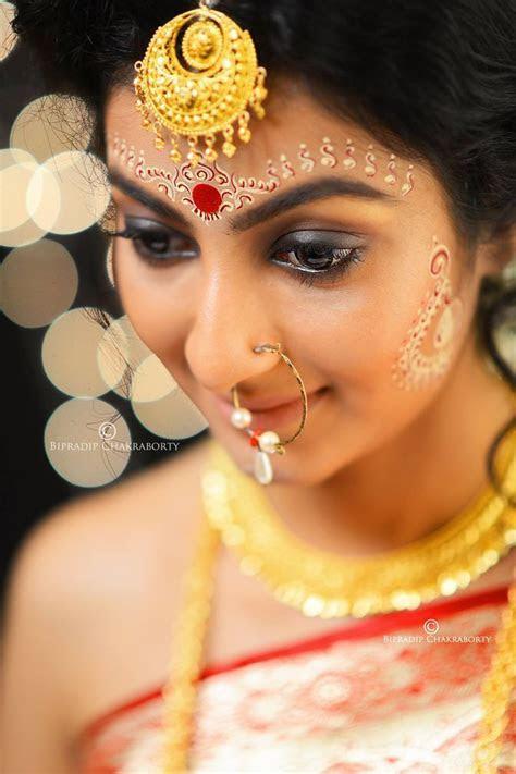 Bengali Bridal Forehead Makeup Design   Saubhaya Makeup