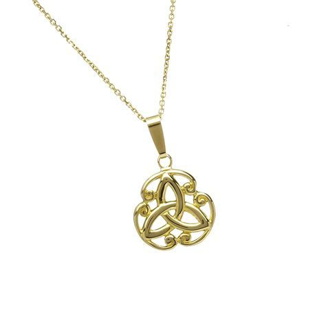 "10ct Trinity knot design pendant 18"" chain   Celtic"