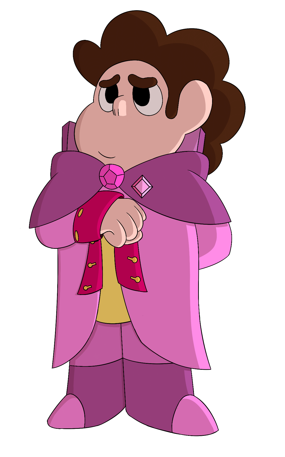 A commission for @clownarmy! Thank you for the commission! Steven as sort of an ambassador to Homeworld! He's nervous but he's trying. Commission me!