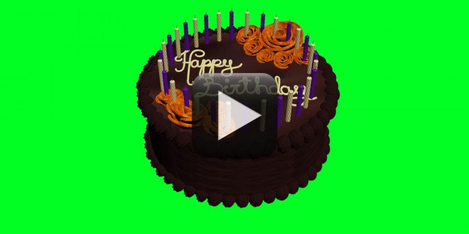 Animated Birthday Cake Green Screen 660x330