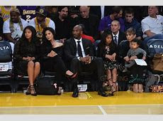 Kobe Bryant Sits Court Side With His Family During The