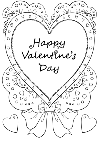 Valentines Day Coloring Cards Svg Vallentine Gift Card