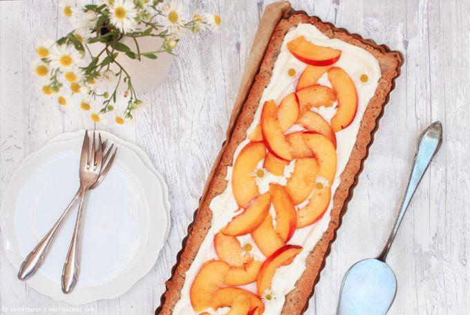 Tarte Nektarine Cheesecake Summer Kuchen